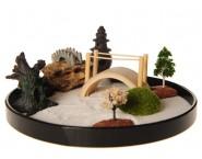 ICNBUYS Zen Garden with Boat Bridge Japanese Censers Set