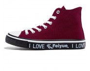 Feiyue Shoes 2019 New High Help Solid Color Trend Sports Casual Shoes For Lovers