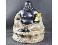 South-East Asia Maitreya Buddha with God of Fortune Original Chinaware Handicraft Ornament