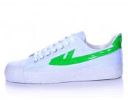 Warrior Footwear White Green Basketball Shoes