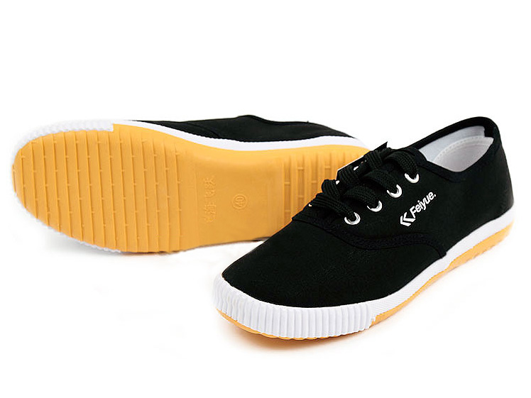 New style Feiyue plain lovers shoes black Detail image