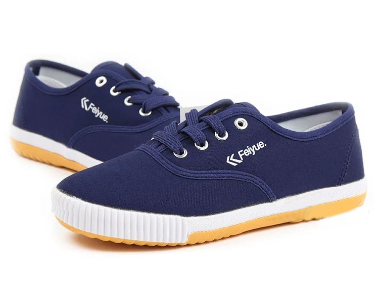 New style Feiyue plain lovers shoes blue Detail image