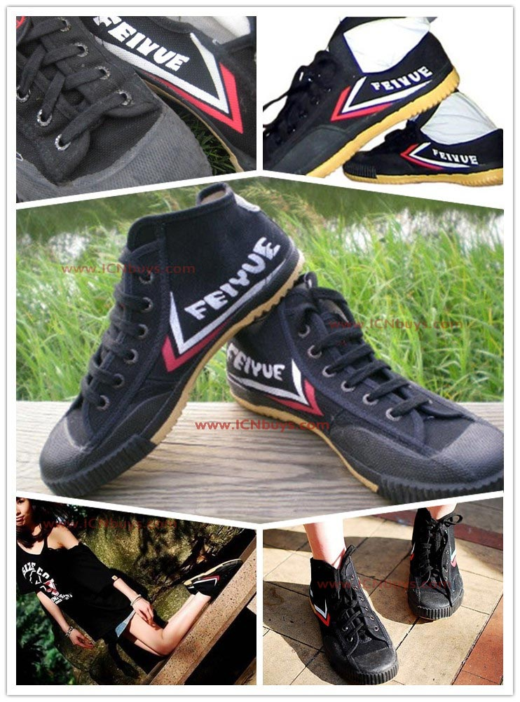 Black high top Feiyue shoes