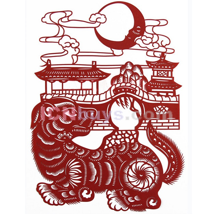 Paper Cutting Chinese Zodiac Dog loyalty