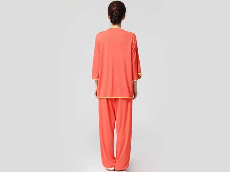 Tai Chi Clothing Half-sleeve Casual Style Orange
