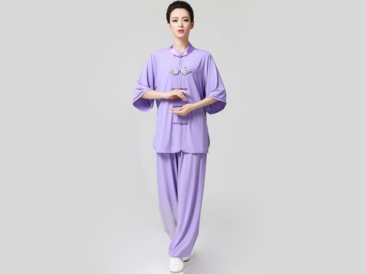Tai Chi Clothing Half-sleeve Casual Style Violet