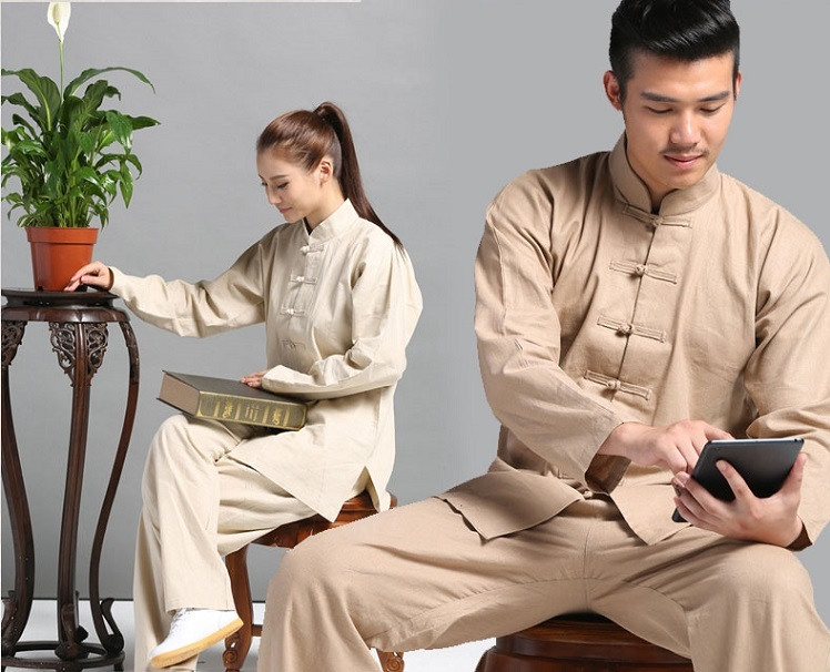 Tai Chi Clothing Set Casual Style White Detail image