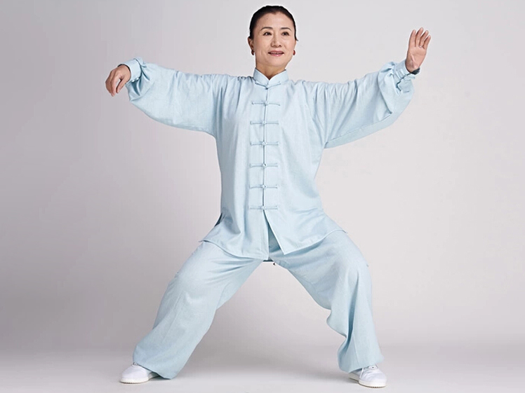 Tai Chi Clothing Long-sleeve Casual Style Linen Suit