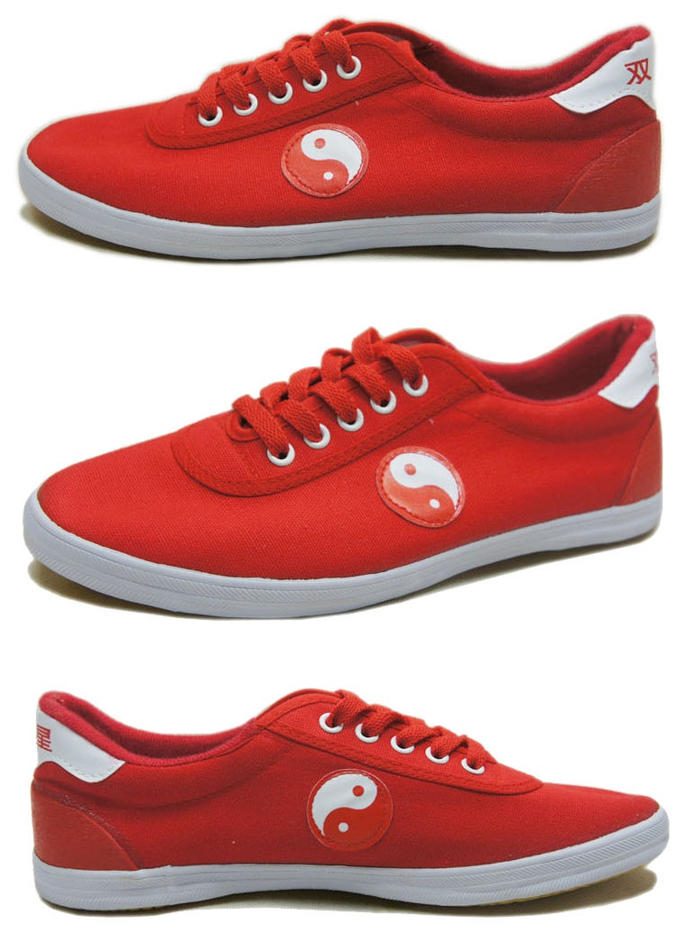 Tai Chi Shoes Red Tai Chi Pattern